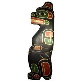 カービング タペストリ 木彫刻 アート 壁掛 カナダ 先住民 ネイティブ インディアン [ BEAR 熊 ] SQUAMISH スクアミッシュ族 MATTHEW BAKER作  送料無料