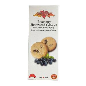ブルーベリー&メープルショートブレッドクッキー100g(11枚) ×6 箱 激安 まとめ買い 個包装 カナダ土産 グルメカナディアーナ カナダ旅行 お土産袋サービス 日本語表示シールも剥がし