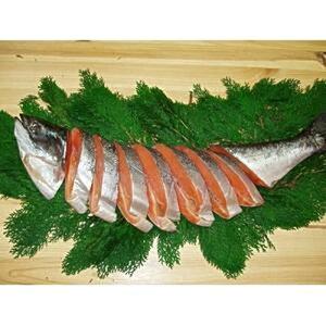 キングサーモンの塩鮭 尾頭付き 2kg カナダ土産 めちゃうま最高の一品! このボリューム 激安 鮭 サケ カナダ産 お土産食品 カナダ旅行のお土産 ビールに良く合う! お歳暮 熨斗OK  送料無