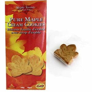 メープル シロップ クリーム クッキー 10枚 個包装 146g カナダ土産で人気No.1クッキー メープルテルワー ブランド が激安カナダ旅行 お土産袋サービス 日本語表示シールはがし【3箱セット】