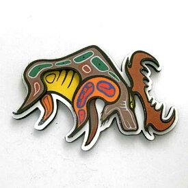 飛び出す 3D マグネット カナダ 先住民 ネイティブ インディアン 雑貨 [ MOOSE ]