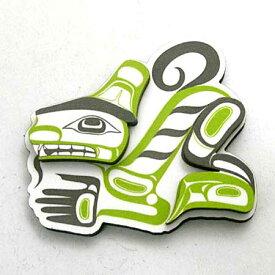 飛び出す 3D マグネット カナダ 先住民 ネイティブ インディアン 雑貨 [ WOLF 狼 ]