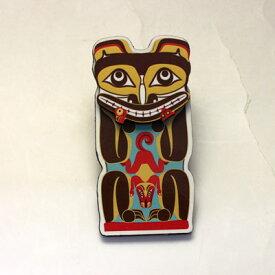 飛び出す 3D マグネット カナダ 先住民 ネイティブ インディアン 雑貨 [ BEAR SALMON WOLF TOTEM ]