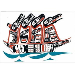 ネイティブ ポストカード アート イラスト デザイン カナダ 先住民 インディアン 雑貨 [ Ancestor's Journey 2011 ]