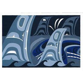 ネイティブ ポストカード アート イラスト デザイン カナダ 先住民 インディアン 雑貨 [ The Pod ]