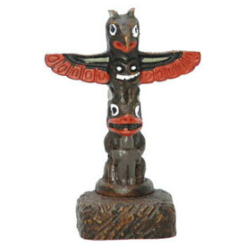 トーテムポール TOTEM POLE レプリカ カナダ 先住民 ネイティブ インディアン BOMA製 [ THUNDERBIRD サンダーバード ] 6cm