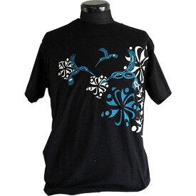 Tシャツ ユニセックス 男女兼用 カナダ 先住民 ネイティブ インディアン アート デザイン HUMMINGBIRD 黒