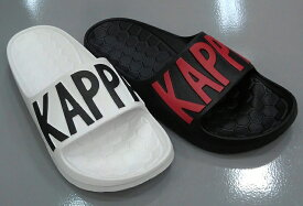 Kappa カッパ BRU57 シャワーサンダル ホワイト/ブラック ブラック
