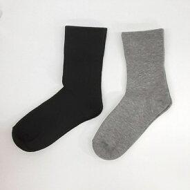ゴムなしくつした 足に優しい靴下です日本製 新潟 五泉市KS005婦人用 (22〜24cm)ブラックグレイ