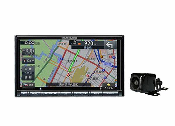 【送料無料(一部地域除く)】ミツビシNR-MZ077-3 7型VICS WIDE対応CD/DVD再生Bluetooth搭載フルセグ地デジSDナビ+バックカメラBC-100Rセット