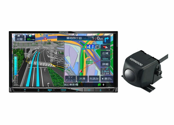 ケンウッド7型フルセグBluetooth搭載地図更新1年間無料彩速ナビMDV-L505+バックカメラCMOS-C230セット