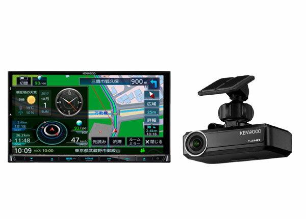 ケンウッド彩速ナビMDV-M705+ドライブレコーダーDRV-N530セット