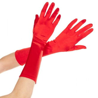 Elbow length satin gloves red gloves • ML426R