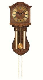 ウッドフレームの機械式が魅力 アームスAMS振り子時計 機械式 248-4 AMS掛け時計