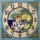 陶器の温かさとイタリアンアートに溢れる魅力! アントニオ・ザッカレラ陶器 置き掛け兼用時計 ZC915-004 名入れ【…