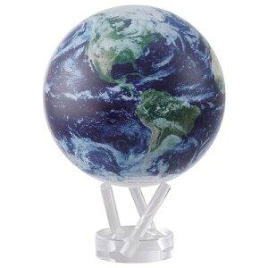 """ゆっくりと回り続ける不思議な地球儀 6""""MOVA GLOBES  ムーバグローブ MG6STEC φ15.2cm Satellite w/Cloud"""