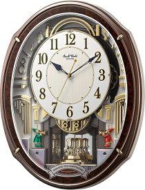 からくり時計 スモールワールド  アルディ 4MN545RH23 リズム時計 掛け時計 からくり掛け時計 報時 電波時計 名入れ ギフト 贈答 送料無料
