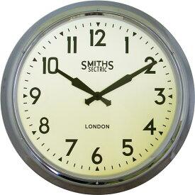 掛け時計 大型掛け時計 レトロ調 ロジャーラッセル掛け時計 Roger Lascelles掛け時計 Smiths Large Wall Clock in Chrome 60cm 壁掛け時計 SM-XL-RETRO