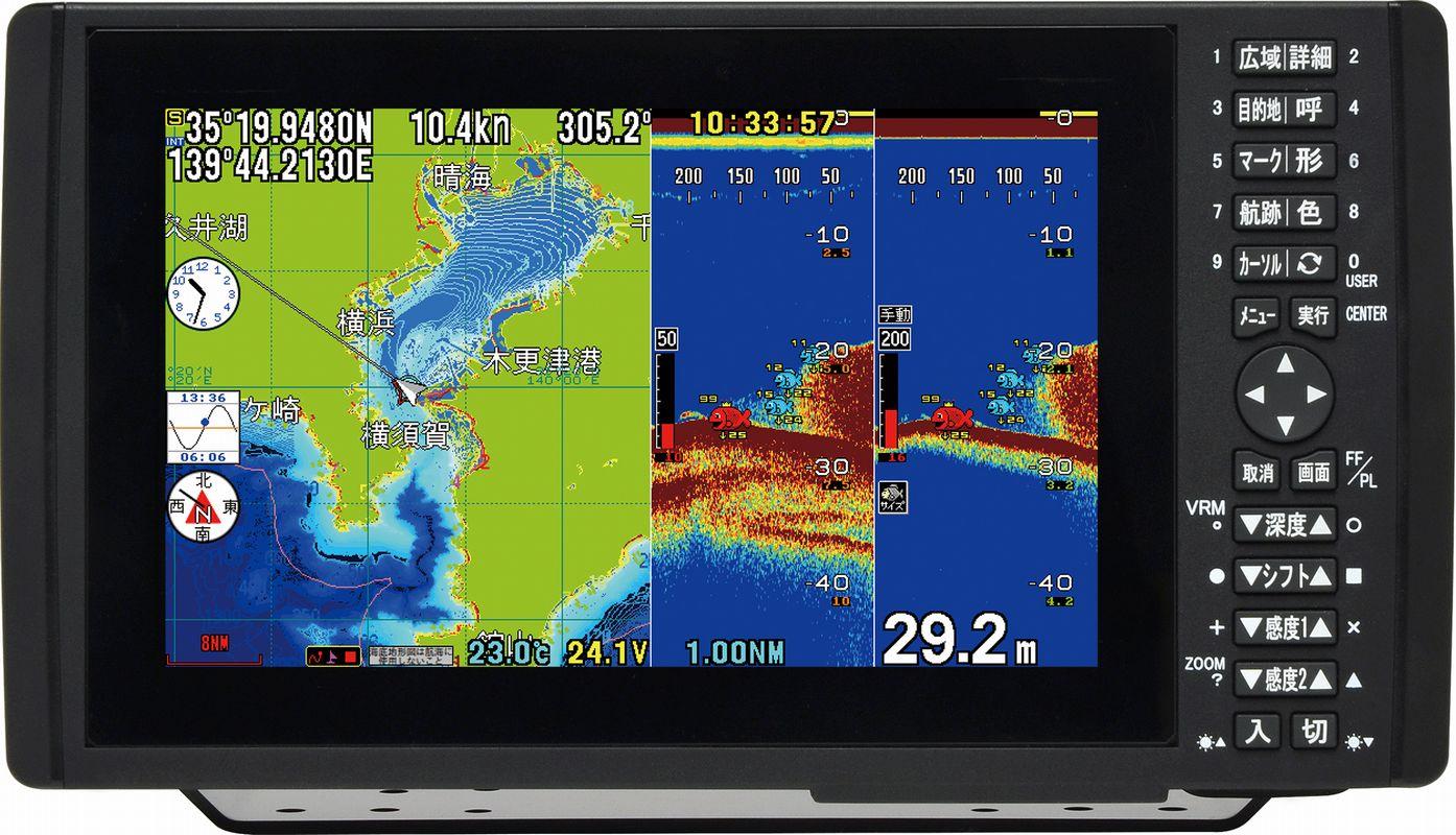 HONDEX (ホンデックス) HDX-9 600W デプスマッピング仕様 9型ワイドカラー液晶 プロッターデジタル魚探 【魚群探知機/GPS魚探/GPS魚群探知機】