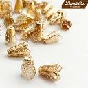 【リュミエラ】100個セット【ビーズキャップ1 王冠】座金 ビーズキャップ ビーズ レジン
