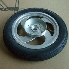8インチ折畳自転車専用タイヤ+チューブ+ホイールセット 交換部品 黒タイヤ 【メール便不可】