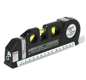 MINI LASER LEVELPRO3 ハンディレベル レーザー付きレベル ミニ水平器 レーザー墨出し器 測定器 1台4役 ハンドスケール水準器(水平器) レーザーポインター メジャーテープ 3方向水準器 スケール 定