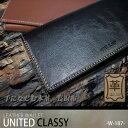 本革 財布【UNITED CLASSY】ツートンシリーズ メンズ 本牛革 長財布【W-187】ウォレット ヴィンテージ加工 財布…