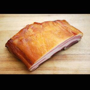イタリア産豚バラ肉使用のベーコンブロック(胸ばら肉の燻製)約800g 冷凍 ※必ず加熱後、お召し上がり下さい。 【RCP】