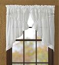 プレイリースワッグカーテン ホワイトラッフルシーア 丈約92センチ 幅約183センチ