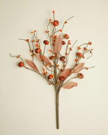 ハロウィンのピック ベリーとミニパンプキン オレンジ