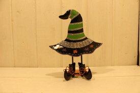ハロウィンの魔女の帽子 (グリーン)