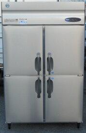 16年製 ホシザキ 縦型 4ドア 冷凍冷蔵庫 HRF-120ZF3 3相200V 2凍2蔵 W120D80H190cm 1004L 4面 (営業所止め)【中古】