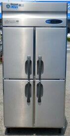 2014年製 ホシザキ HR-90ZT 4ドア 縦型 冷蔵庫 597L W90D65H190cm 100V 100kg (西濃営業所止め)【中古】