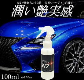 コーティング剤 車 コーティング剤 317 (100ml単品)ガラス系コーティング剤 ガラスコーティング 車 バイク 洗車 送料無料