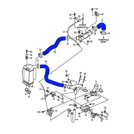 シーエルリンクシリコンインテークホースフルセットジムニーJB64用ブルーレッドライトグリーンオレンジ