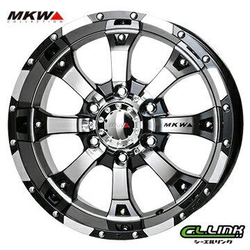【ポイント5倍 継続中】MKW MK-46 17x8J+25 139.7x6穴 106.2 ダイヤカットグロスブラック