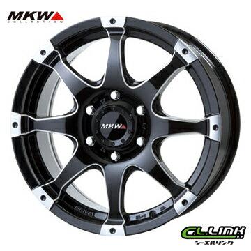 【ポイント5倍 継続中】MKW MK-76 18x8J+20 139.7x6穴 106.2 ミルド/マシンブラック