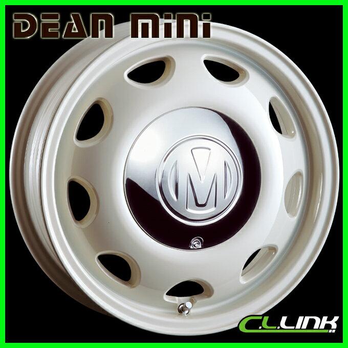 CRIMSON DEAN MINI 15x5J+35 98x4穴/100x4穴 ホワイト クリムソン ディーン ミニ