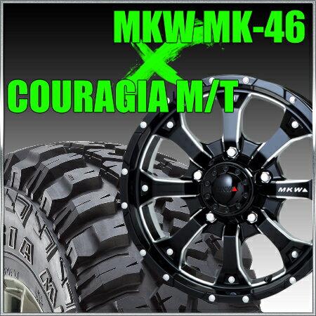 MKW MK-46_ML+ 16x7J+35 110x5穴 65.2 ミルドブラック&ジムニー タイヤ 205/80R16 FEDERAL COURAGIA M/T クーラジア MT
