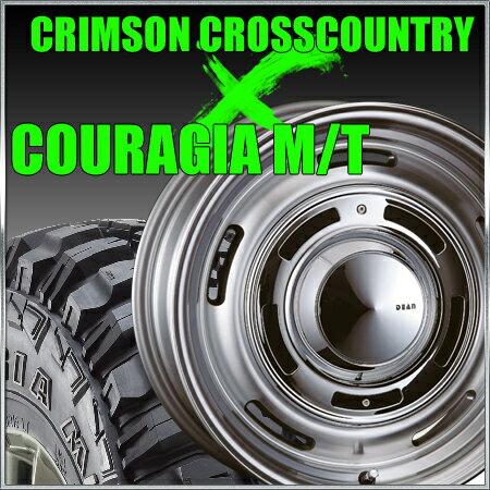 CRIMSON CROSS COUTRY 16x6.5J-5 139.7x6穴 グレイ クリムソン クロスカントリー&315/75R16 フェデラル FEDERAL COURAGIA M/T クーラジア MT