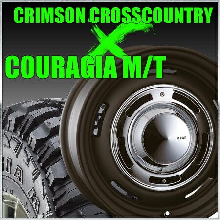 CRIMSON CROSS COUTRY 16x7J+40 139.7x6穴 ブラック クリムソン クロスカントリー&315/75R16 フェデラル FEDERAL COURAGIA M/T クーラジア MT