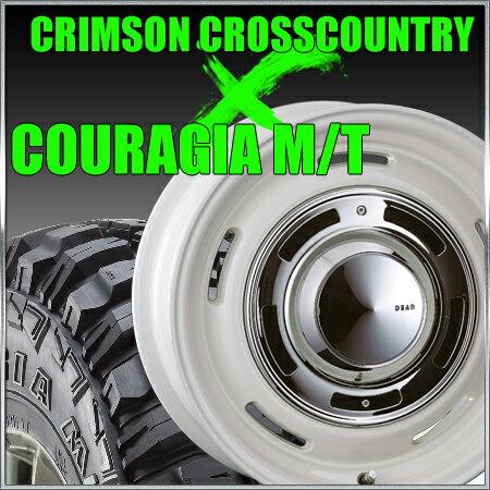 CRIMSON CROSS COUTRY 16x8J+0 139.7x6穴 ホワイト クリムソン クロスカントリー&315/75R16 フェデラル FEDERAL COURAGIA M/T クーラジア MT