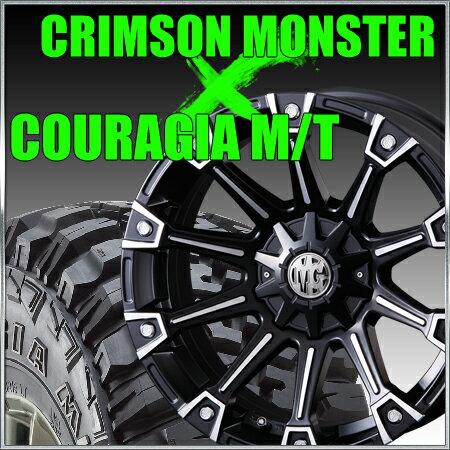 CRIMSON MG MONSTER 16x8J+17 114.3x5穴/127x5穴 クリムソン マーテルギア モンスター&315/75R16 フェデラル FEDERAL COURAGIA M/T クーラジア MT