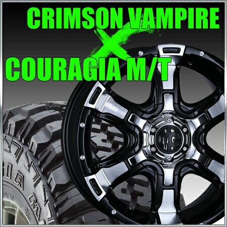 CRIMSON MG VAMPIRE 16x7J+42 114.3/120x10穴 クリムソン マーテルギア ヴァンパイア&315/75R16 フェデラル FEDERAL COURAGIA M/T クーラジア MT