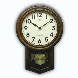 振り子 時計 壁掛け 電波 木製 ブラウン 日本製 木製 ギフト プレゼント アンティーク レトロ インテリア リビング アラビア文字