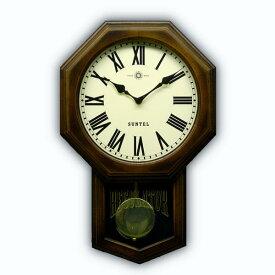 振り子 時計 壁掛け 電波 木製 八角形 電波 振り子時計 日本製 ギフト プレゼント レトロ アンティーク インテリア リビング