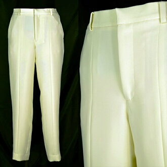 ●Polyester double cloth cropped pants ● 38 (9, medium size) ● cream yellow