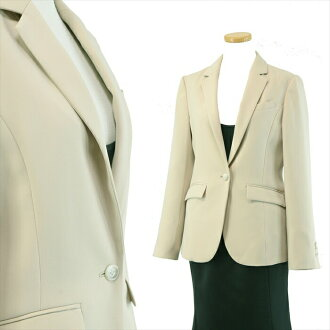 << Cutch re-tight good impression >> ● picket-like jersey tailored jacket ● S1B ● 36/7 /S ● beige system