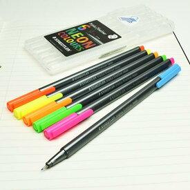 ステッドラー トリプラス ファインライナー 細書きペン ネオンカラー 6色セット 334 SB6CS3  STAEDTLER 細字 マーカー カラーペン【メール便OK】