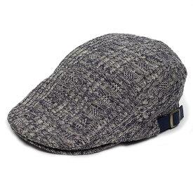 ハンチング帽 ポリ ケーブル ニット 秋 冬 紺色 ネイビー Flatcap メンズ レディース ハンチング キャップ 帽子 サイズ 58cm 調整可能